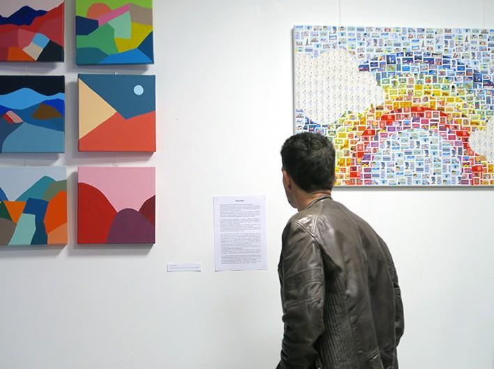 Exposition de Morgan Le Ruyet pour la soirée d'inauguration de la MAATA à l'EPHAD Terre-nègre à Bordeaux.